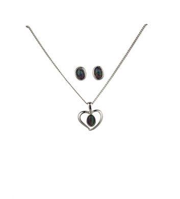 88204_Australian-Opal-Heart-Jewellery-Set