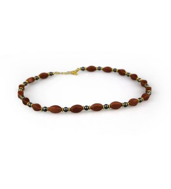 89956_Necklace-Twisted-Iron-Ore-and-Sunstone