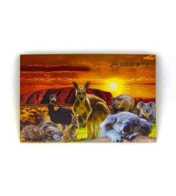 Uluru and animals 3D po