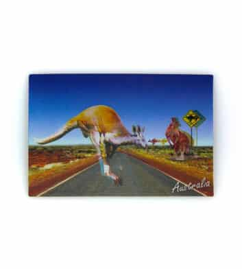 Outback Kangaroo 3D Postcard