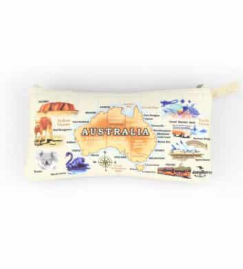 Australia Map Pencil Case