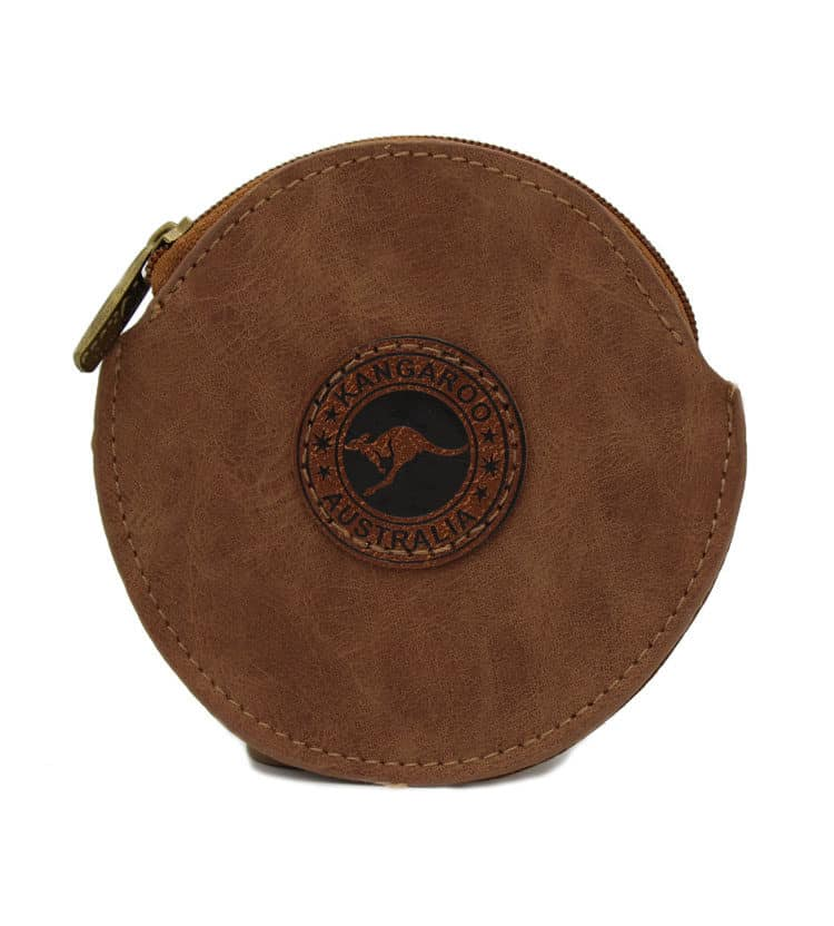 Suede Leather Round Coin Bag