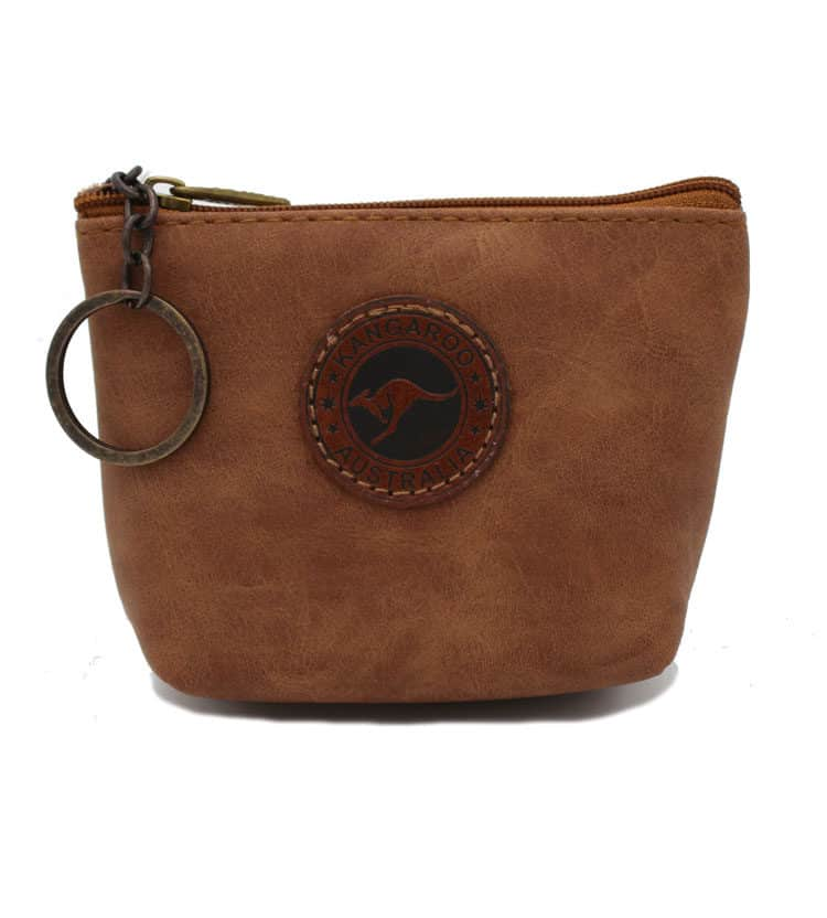 Suede Coin Bag Rectangle with Base