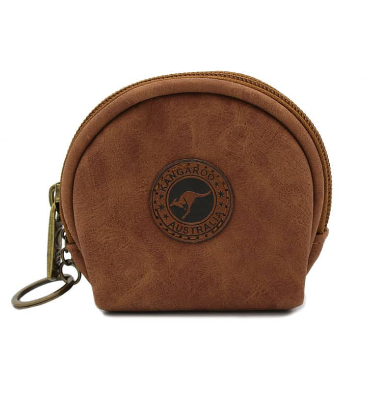 Suede Leather Coin Bag