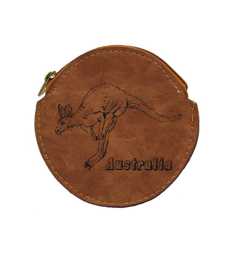 Kangaroo round coin bag
