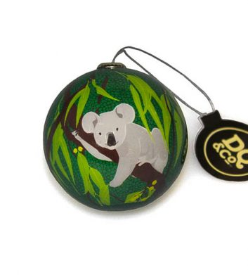 Green Koala Christmas Bauble