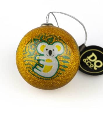 Gold Koala Christmas Bauble