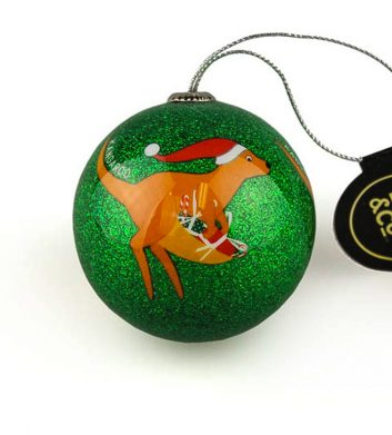 Green Kangaroo Christmas Bauble