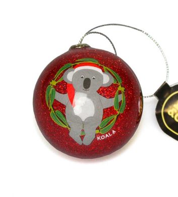Red Koala Christmas Bauble