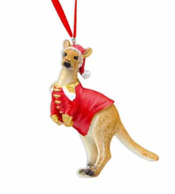 Red Kangaroo Christmas Decoration