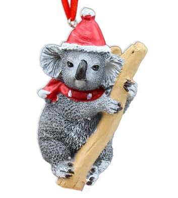 Koala & Tree Christmas Decoration