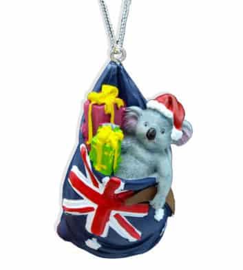 Koala With Presents Christmas Decoration