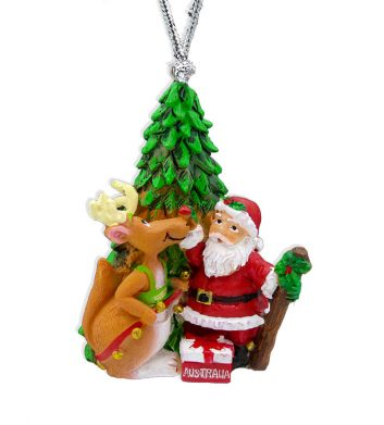 Rudolph & Santa Christmas Decoration