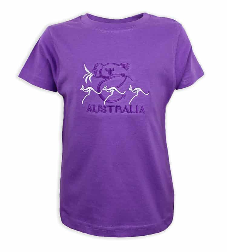 Purple Kangaroo Kids T-Shirt