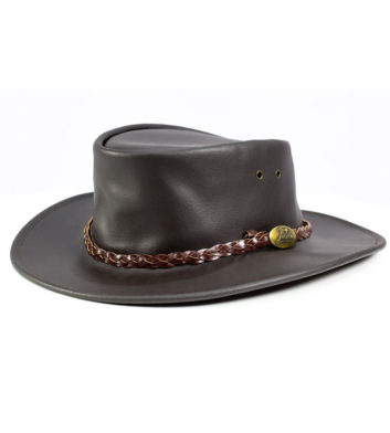 Swagman Brown Leather Hat - Jacaru