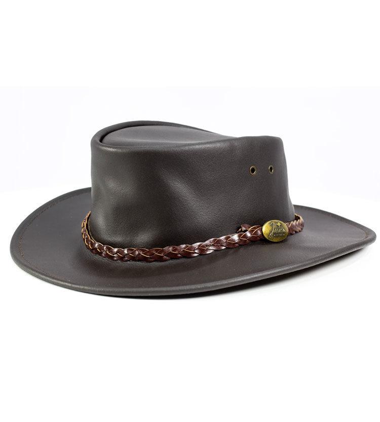 Swagman Brown Leather Hat - Jacaru