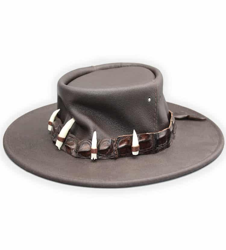 Crocodile Hunter Leather Hat