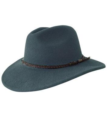 Wool Outback Fedora Hat - Jacaru