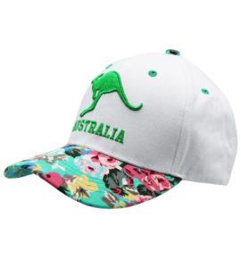 Green Kangaroo Floral Cap
