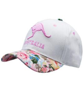 Pink Kangaroo Floral Cap