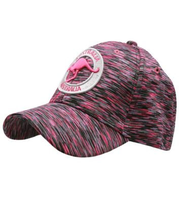 Kangaroo Badge Cap Pink