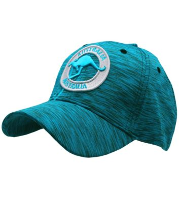 Kangaroo Badge Cap Aqua