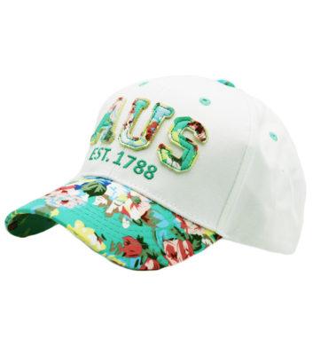 Green Aus 1788 Floral Cap