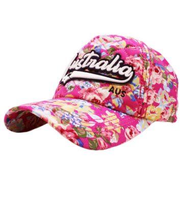 Pink Australia Floral Cap