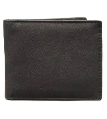 Kangaroo Leather Black Two Fold Wallet