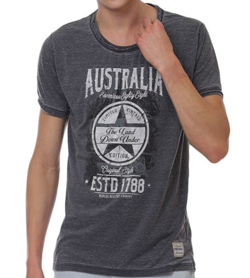 Grey Australia Mens T-Shirt