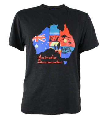 Colourful Australian Map T-Shirt