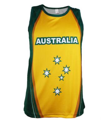 Green & Gold Australia Singlet