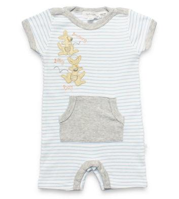 Roo Blue Stripe Baby Romper