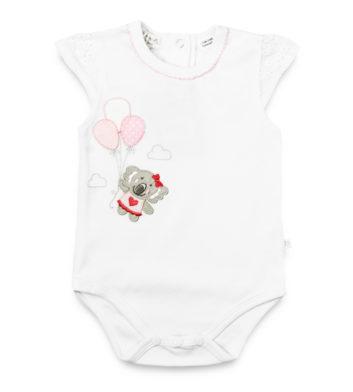 Koala Balloons White Baby Romper