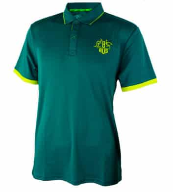 Green & Gold Tech Polo Shirt