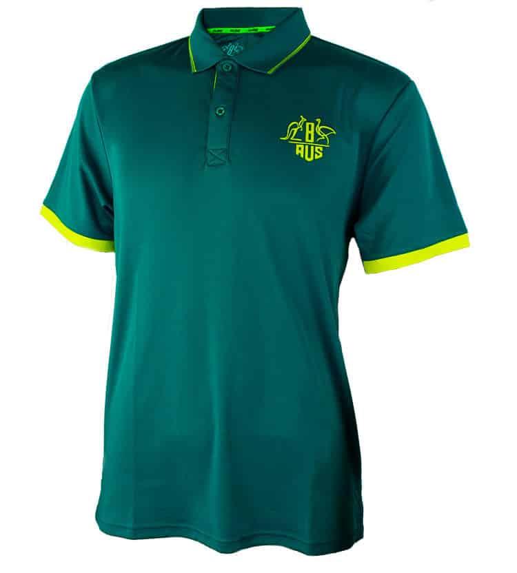 Green & Gold Tech Polo Shirt