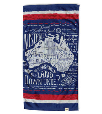Australia Lucky Country Beach Towel