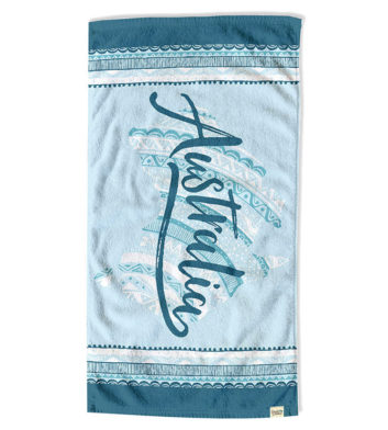 Australia Patterns Beach Towel