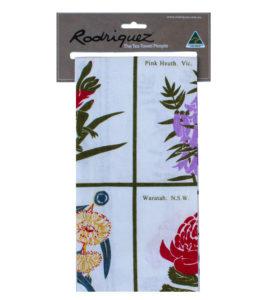 Australian Flowers Tea Towel