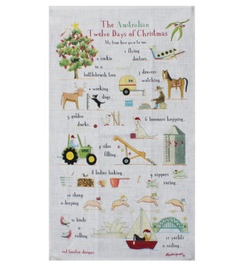Australian Christmas Tea Towel