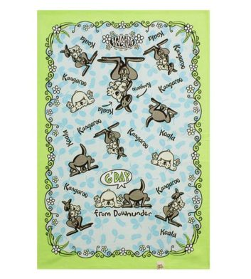 Animals Downunder Tea Towel