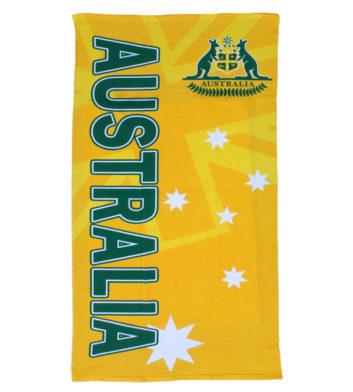 Green & Gold Australia Towel