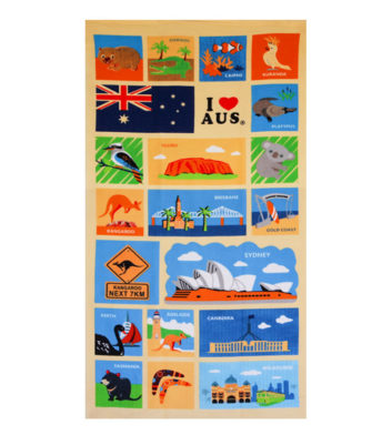 Australian Icons Towel