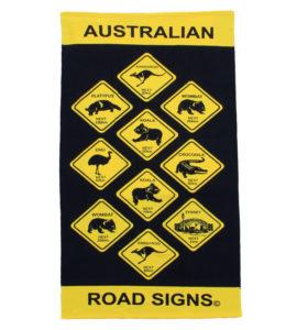 Australian Roadsigns Towel