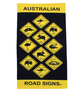 Australian Roadsigns Towel