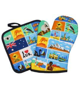 Australian Icons Oven Mitt & Pot Holder