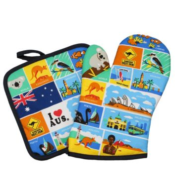 Australian Icons Oven Mitt & Pot Holder