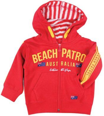 Beach Patrol Kids Hoodie Red