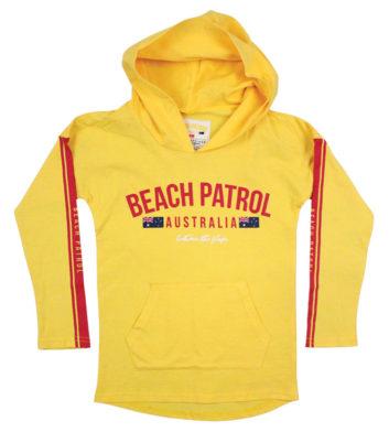 Beach Patrol Kids Hoodie Yellow