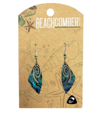 Paua Shell Spiral Earrings